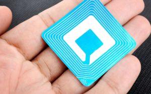 Photo d'une étiquette RFID