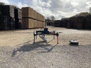 inventaire par drone RFID dans un parc de stockage